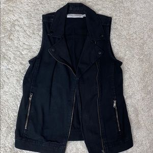 VGUC Gypsy Warrior Denim Moto Vest